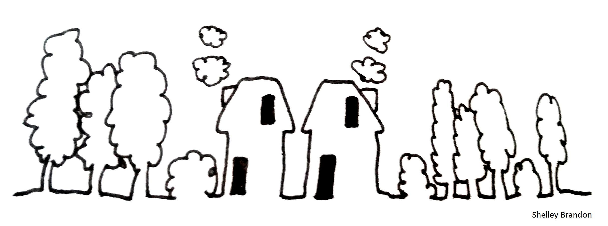 twee huizen met naam